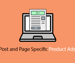 Post and Page Specific Product Ads banner